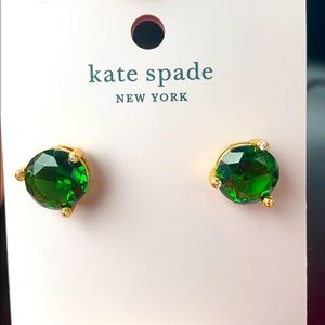 NWT ♠️💚 Kate Spade Rise and Shine Emerald Earring